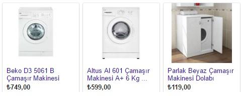ikinci el çamaşır makinesi fiyatları